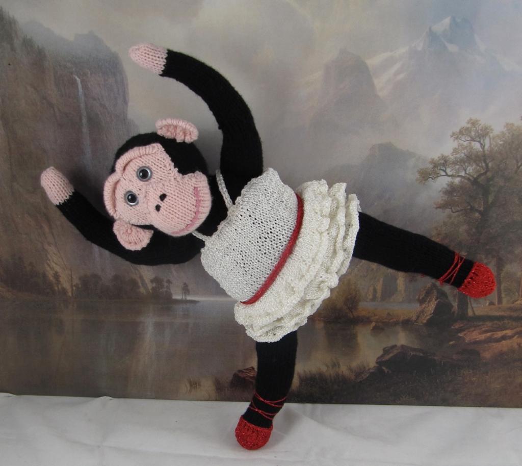 Prima Primate Ballerina Toy Monkey