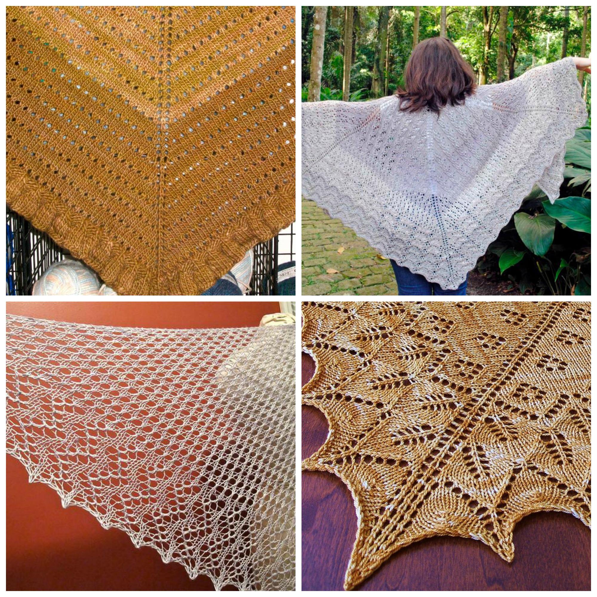 Free Shawls Knitting Pattern eBook