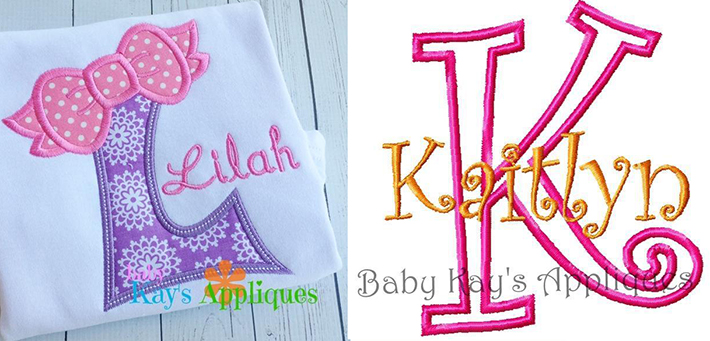 baby kays applique monograms