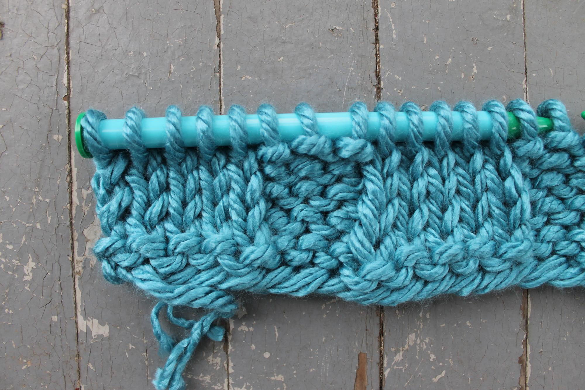 First set of basketweave stitch