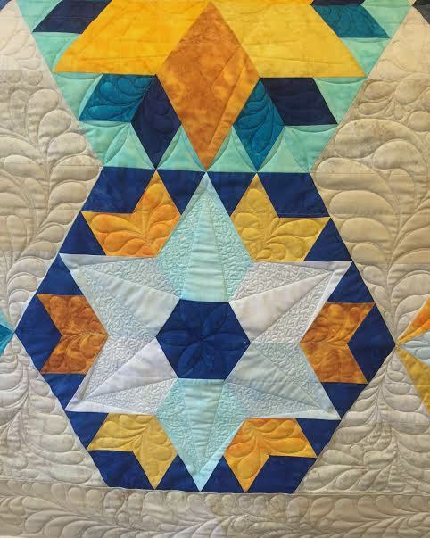 beautiful custom freehand quilting