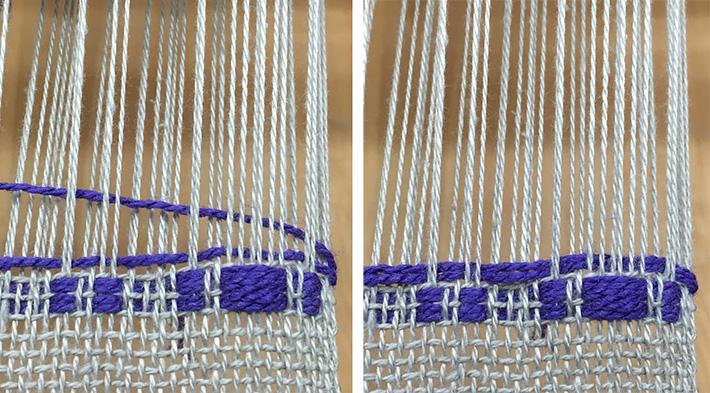two strands pattern weft monks belt