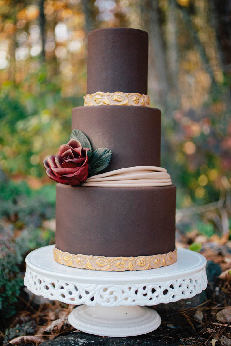 Chocolate Fondant Recipe Wedding Cake | Erin Gardner