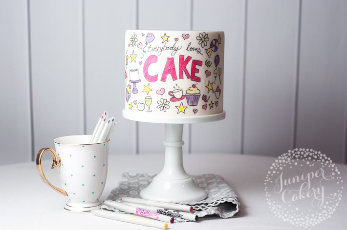 How to decorate an easy and fun doodle cake