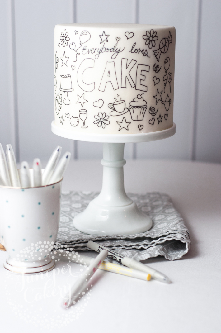 Doodle cake tutorial