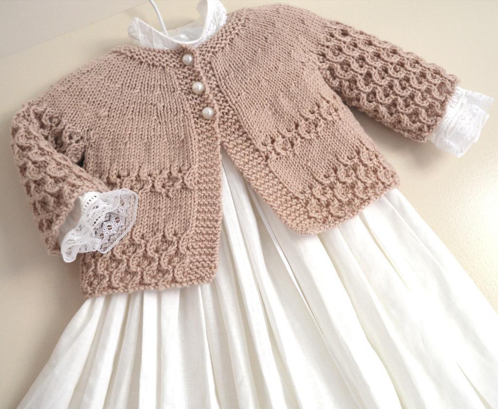 Round Yoke Cardigan Knitting Pattern