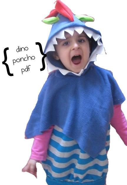 Dino Poncho Dress Up Sewing Pattern