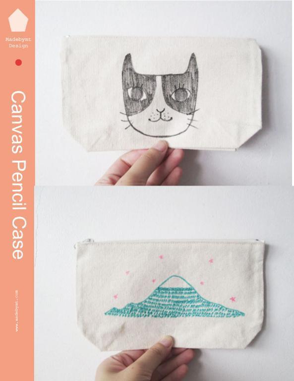 Sew a fun canvas zipper pencil case
