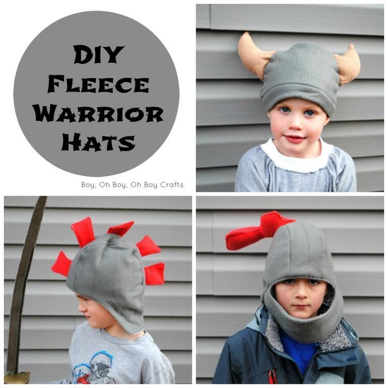 DIY Fleece Warrior Hats FREE Sewing Pattern