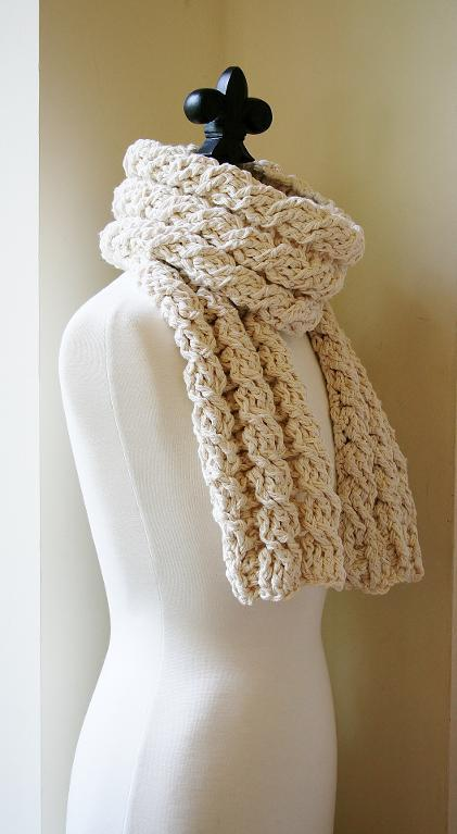 Chunky Cable Crochet Scarf Pattern