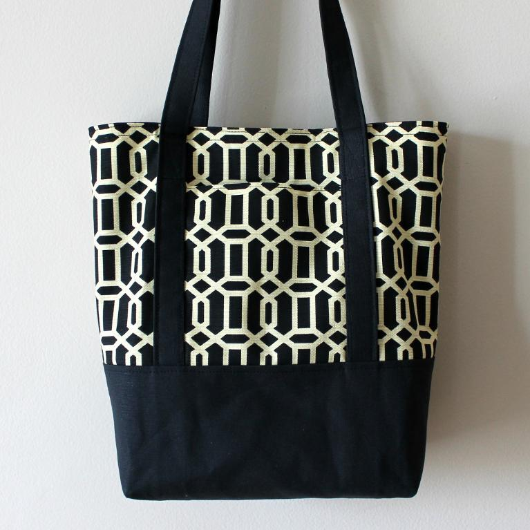 Sew a canvas tote to use at the market or at the beach.