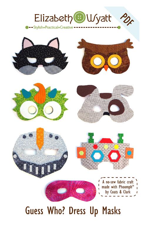 Guess Who Dress-Up Masks Sewing Pattern