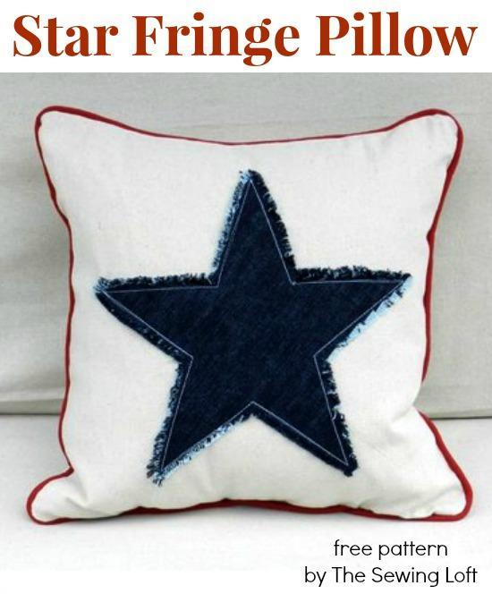 Use canvas to sew a decorative throw pillow.