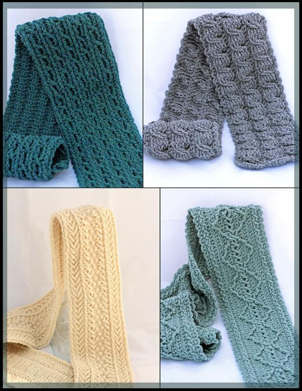 Forest Trails Cable Scarf Crochet Patterns