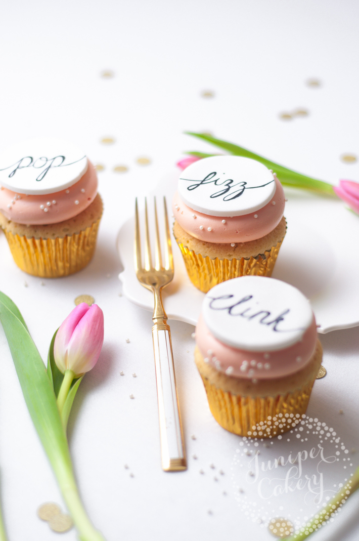 How to hand-paint cake calligraphy onto cakes and cupcakes