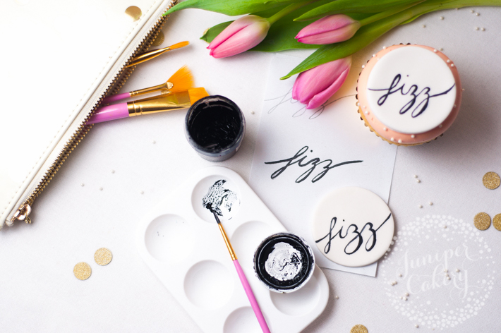 How to add painted cake calligraphy messages onto cake