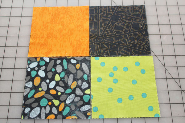 fabrics for scrappy four patch