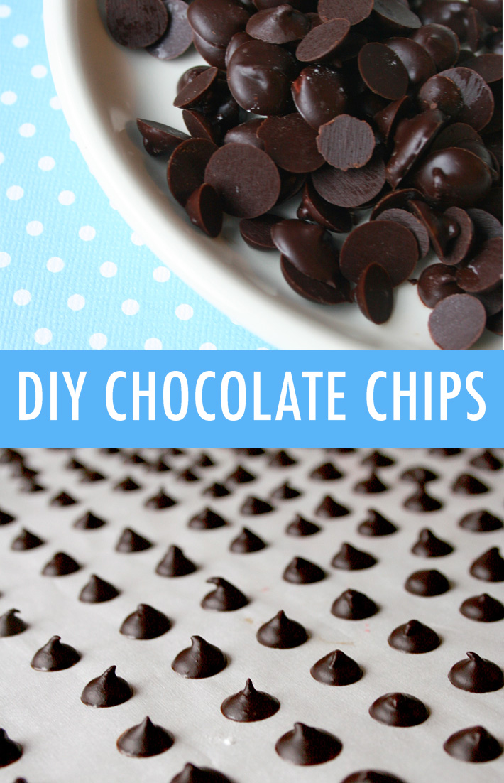 Homemade chocolate chips