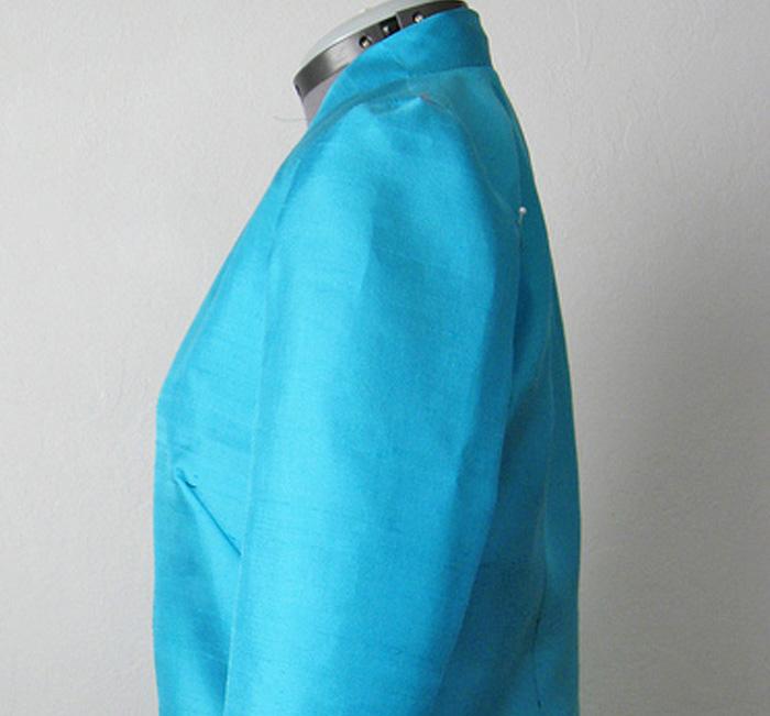 silk jacket muslin sample