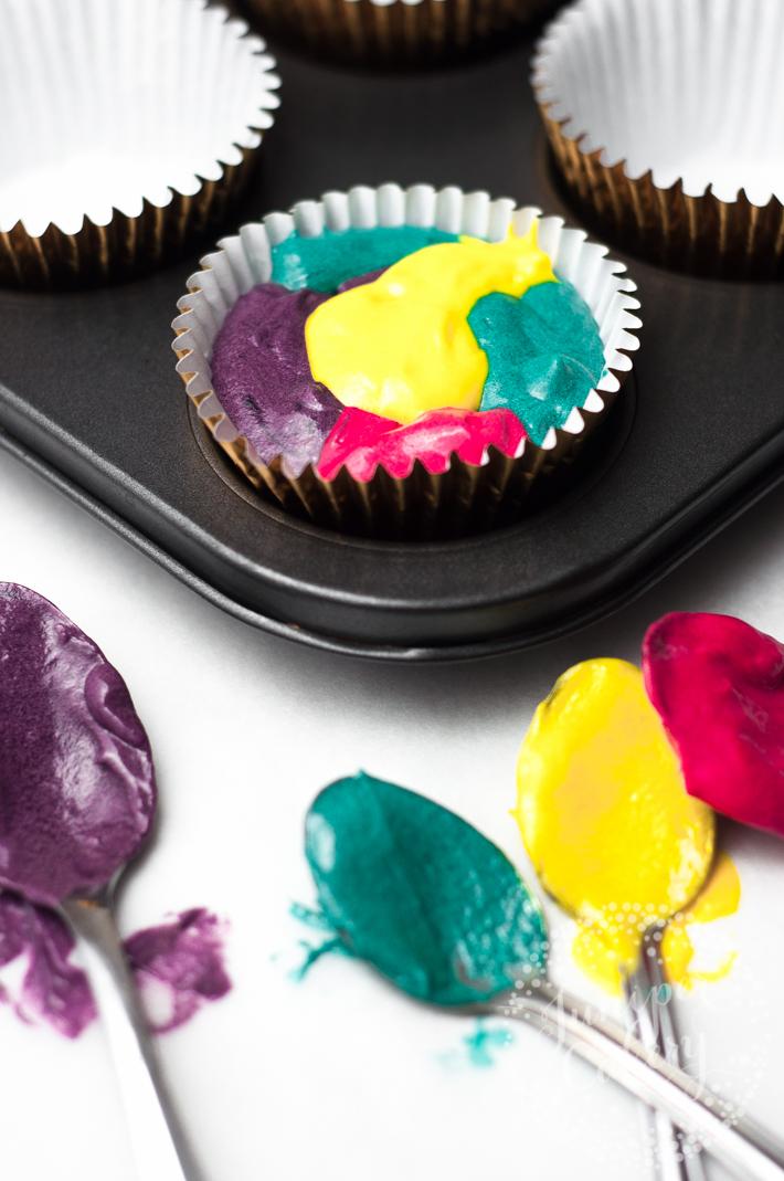 Rainbow cupcake tutorial