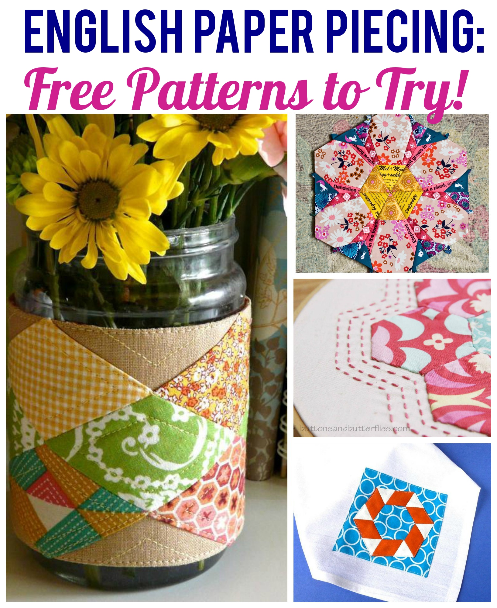 Free English Paper Piecing Patterns to Try