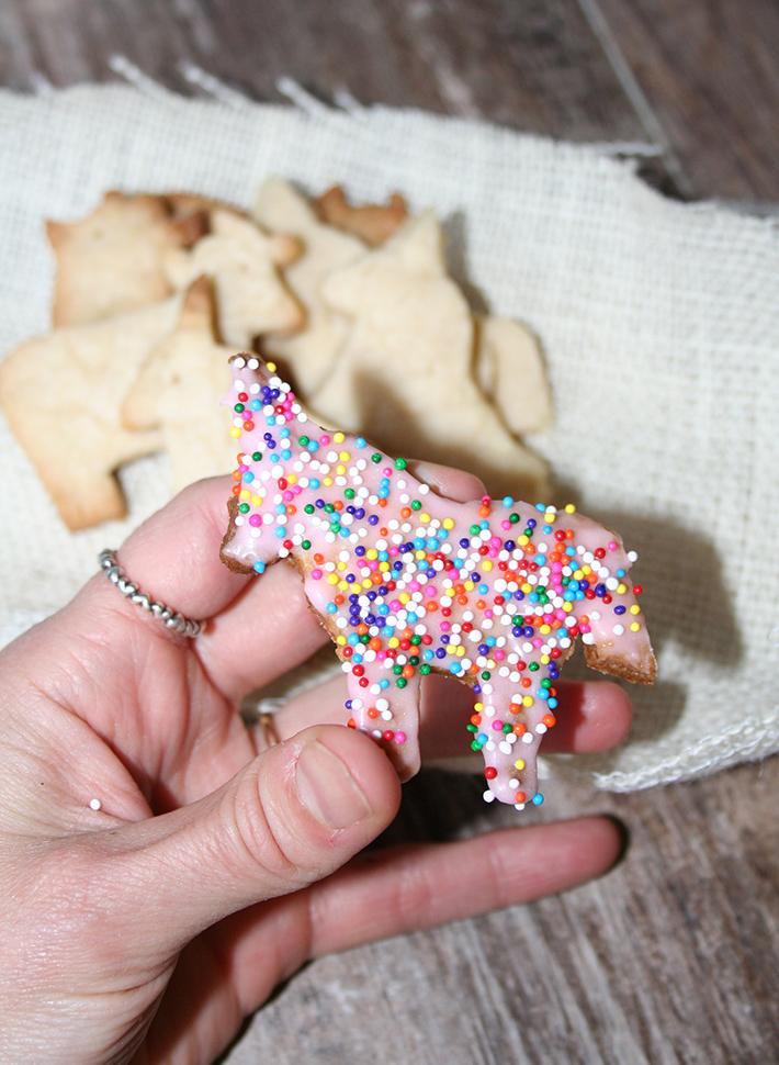 Rainbow animal crackers