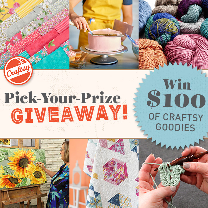 craftsy's pick your prize giveaway