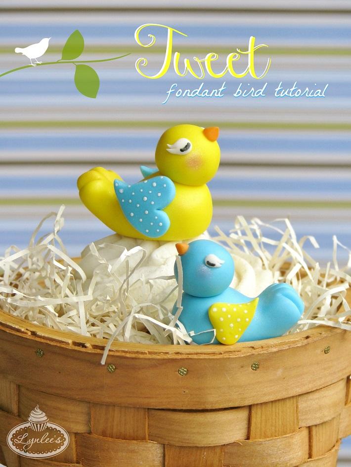 Spring bird cake topper