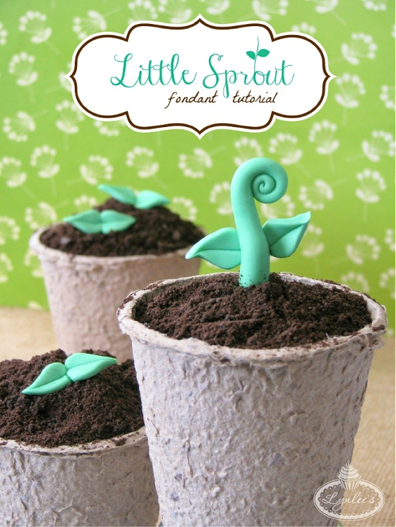 Sprout cupcakes