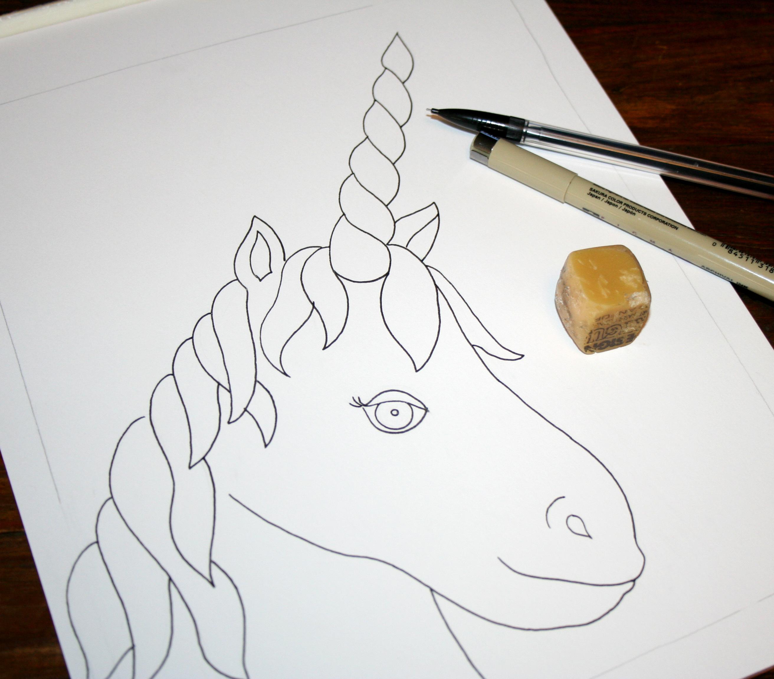 Unicorn outline