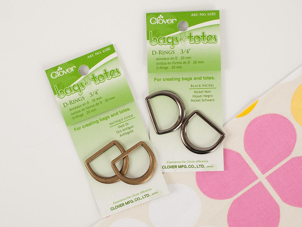 Clover 3/4 Inch D-Rings 2ct