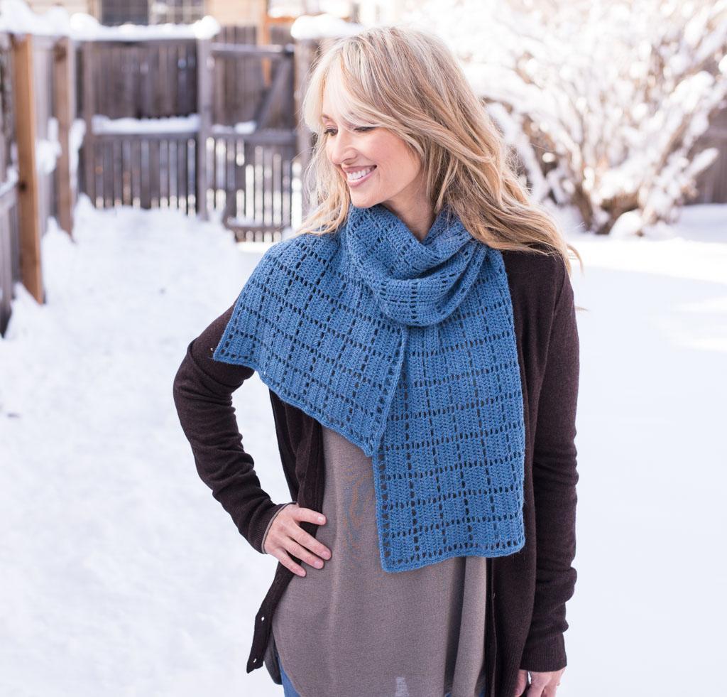 Squares Squared Scarf Crochet Kit
