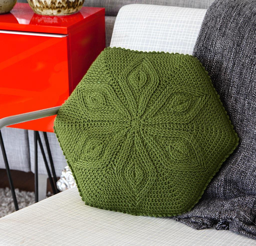 Hexagaon Flower Pillow Crochet Kit