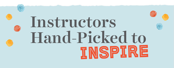 """""""Instructors Hand-Picked to Inspire"""" graphic"""