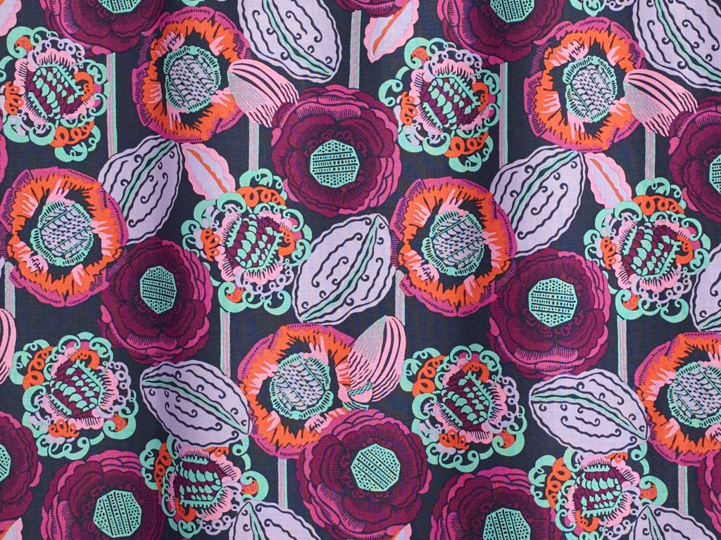 Amy Butler Bright Heart Cotton Poplin Coco Bloom