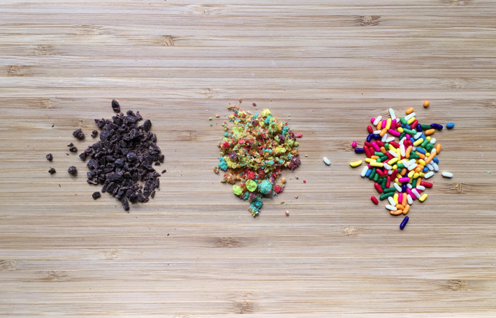 sprinkles, cereal, chocolate