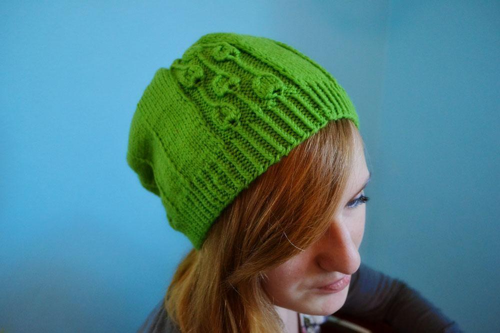 Spring Buds Knit Hat Pattern