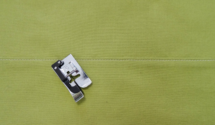 Straight Top-stitched stitches with Blind Hem Foot