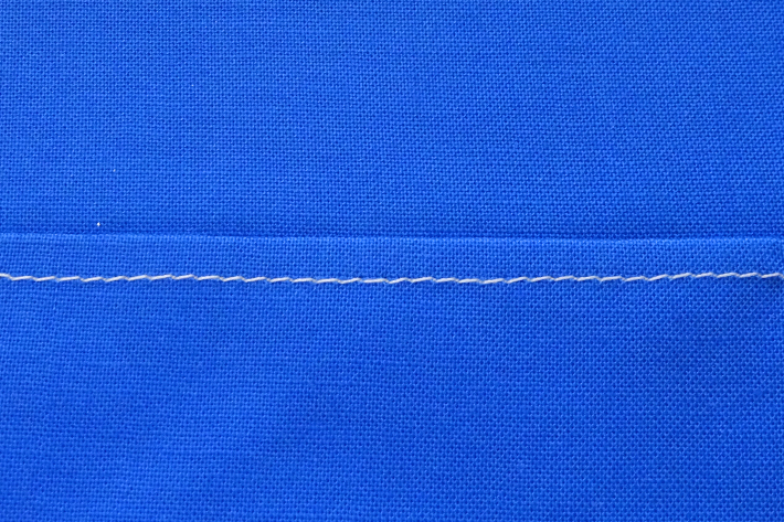 Straight Top-stitching with Zigzag Foot