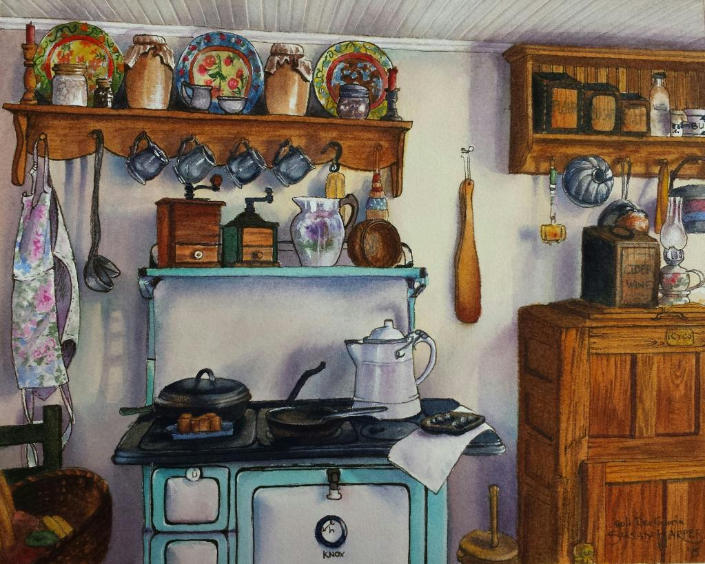 Realistic Kitchen Painting