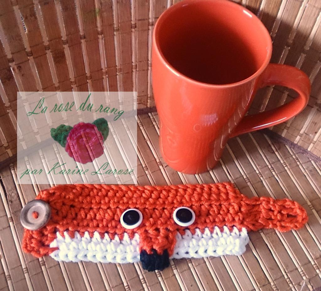 crochet mug cozy fox