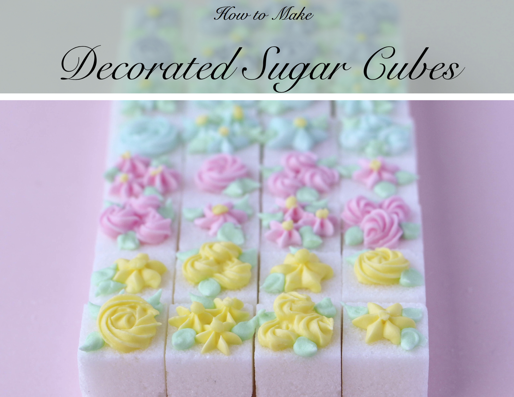 How to Make Decorated Sugar Cubes | Erin Gardner