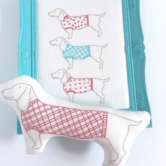 Weiner Dog Embroidery
