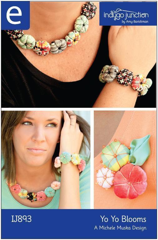 Yo Yo Blooms Fabric Jewelry