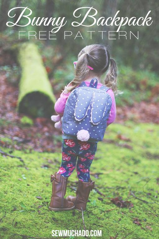 What's cuter than this bunny ear backpack with a bunny tail?