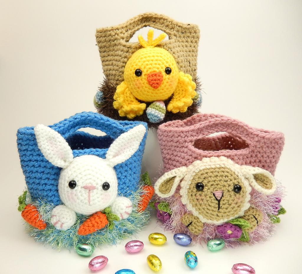 Crocheted Easter Treat Bags