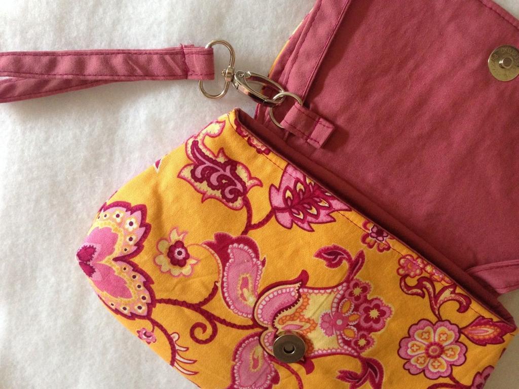 Pink Peony Bag interior