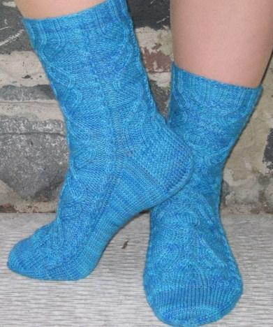 Eye of the Helix FREE Socks Pattern