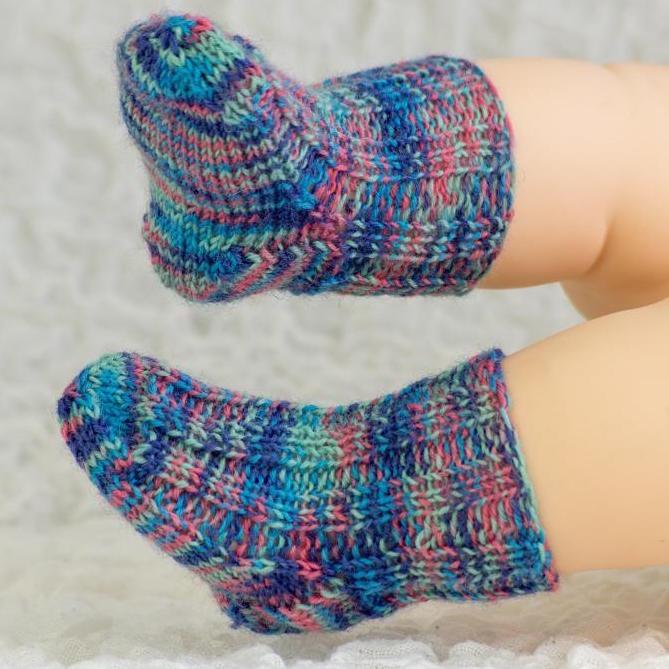 Newborn Baby Knit Socks