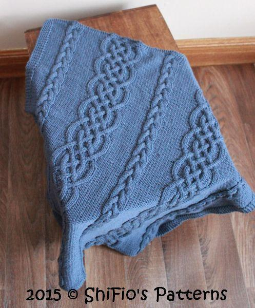 Celtic Cable Afghan FREE Knitting Pattern